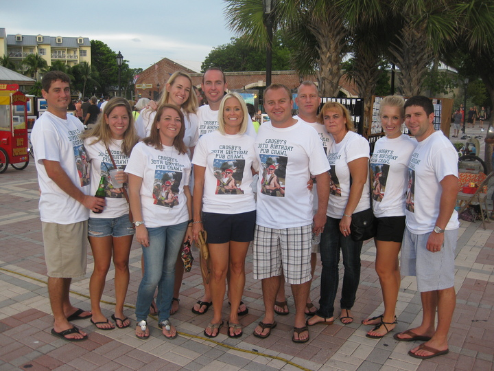 Crosby's 30th Birthday Pub Crawl   Key West Style T-Shirt Photo