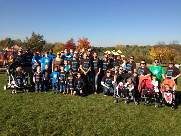 Emery's Entourage At The Step Up For Down Syndrome Walk! T-Shirt Photo