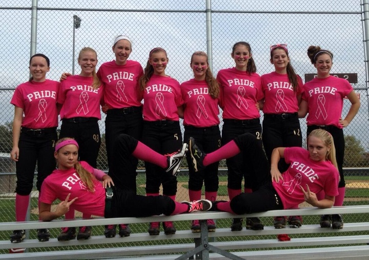 Grayslake 15 U Pride Cancer Month T-Shirt Photo