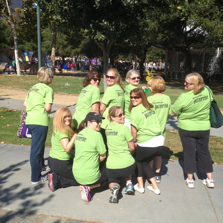 Jazzercise Team At The Walk To End Alzheimer's T-Shirt Photo