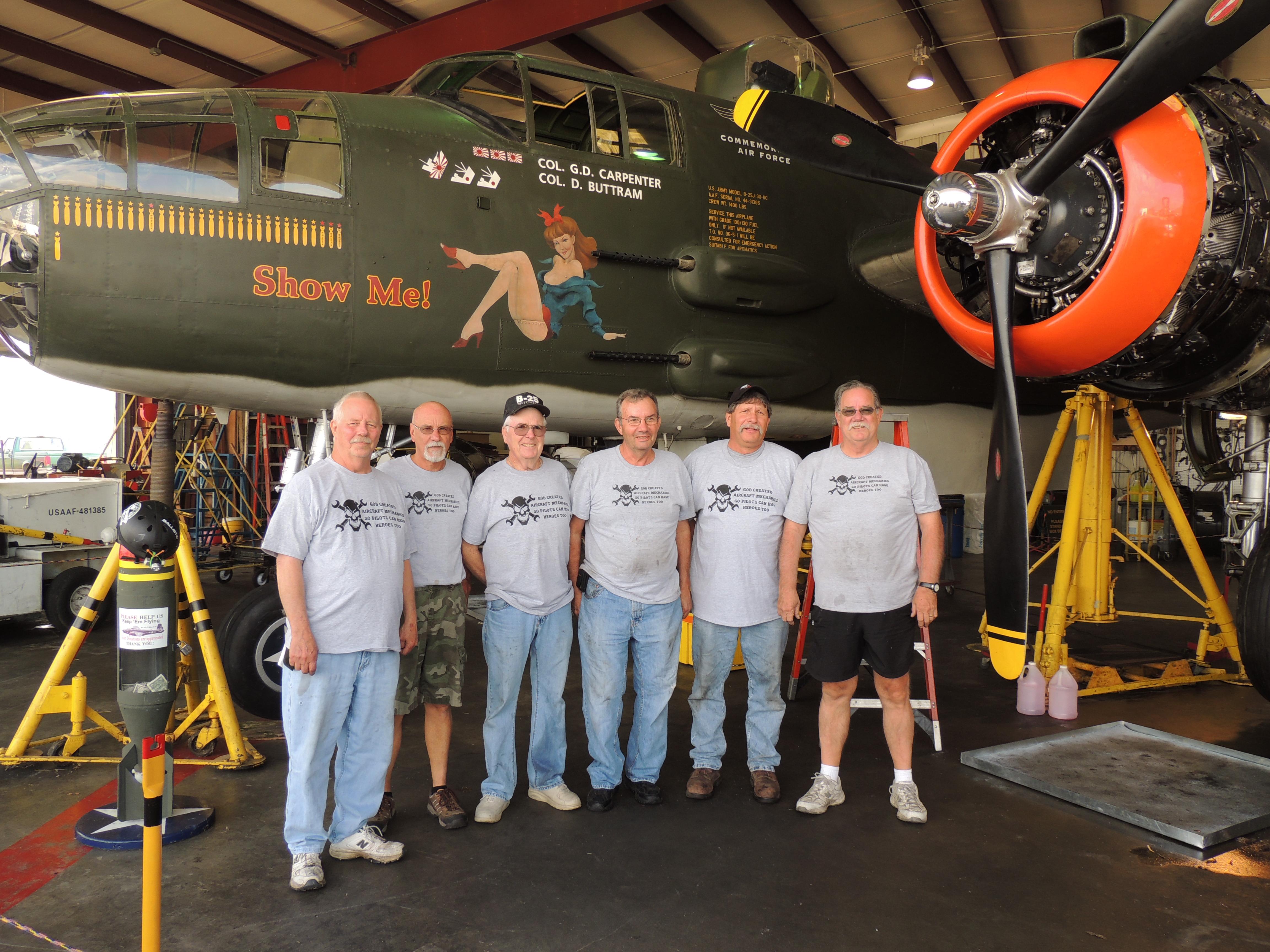 Custom T Shirts For Caf Missouri Wing Aircraft Mechanics Shirt