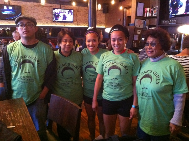 Oscar's Girls Fighting Cancer One Stride At A Time T-Shirt Photo