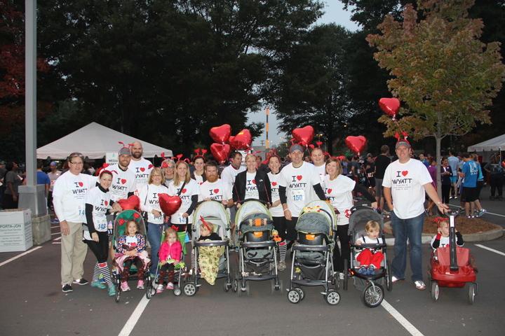 Wyatt's Warriors Team   2013 Hopebuilders Stroller Roller Benefiting Levine Children's Hospital (Charlotte, Nc) T-Shirt Photo