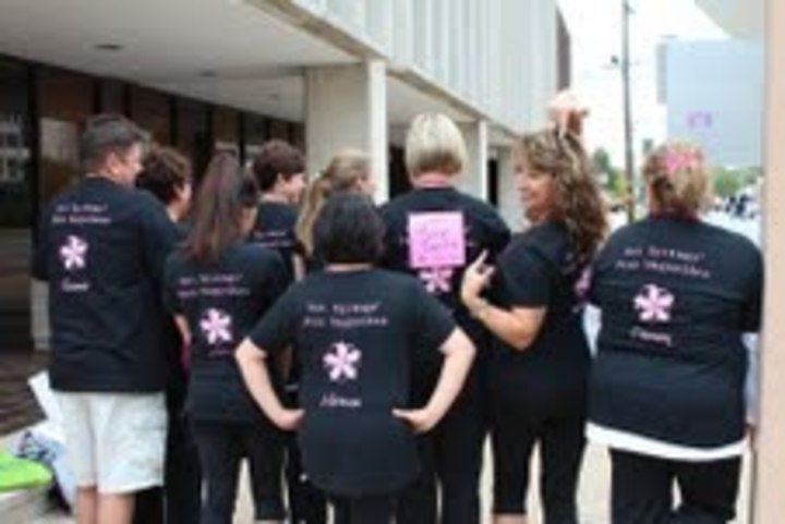Hot Springs' Pink Magnolias T-Shirt Photo