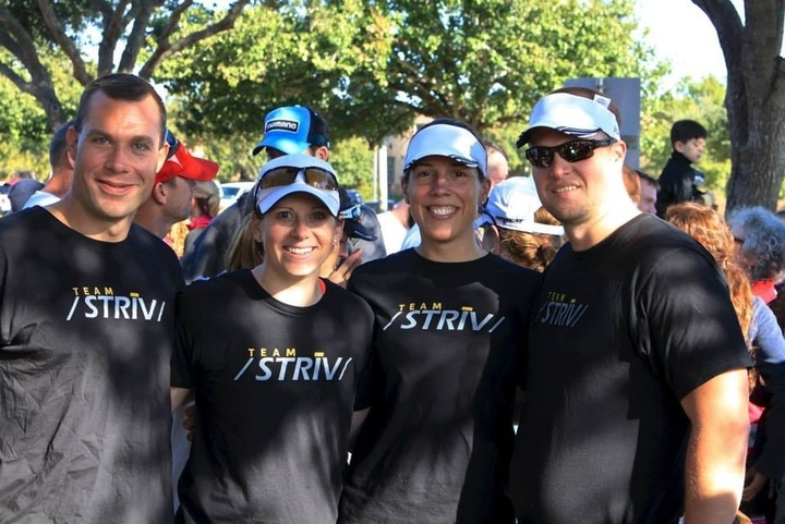 Coach And His Triathletes! T-Shirt Photo