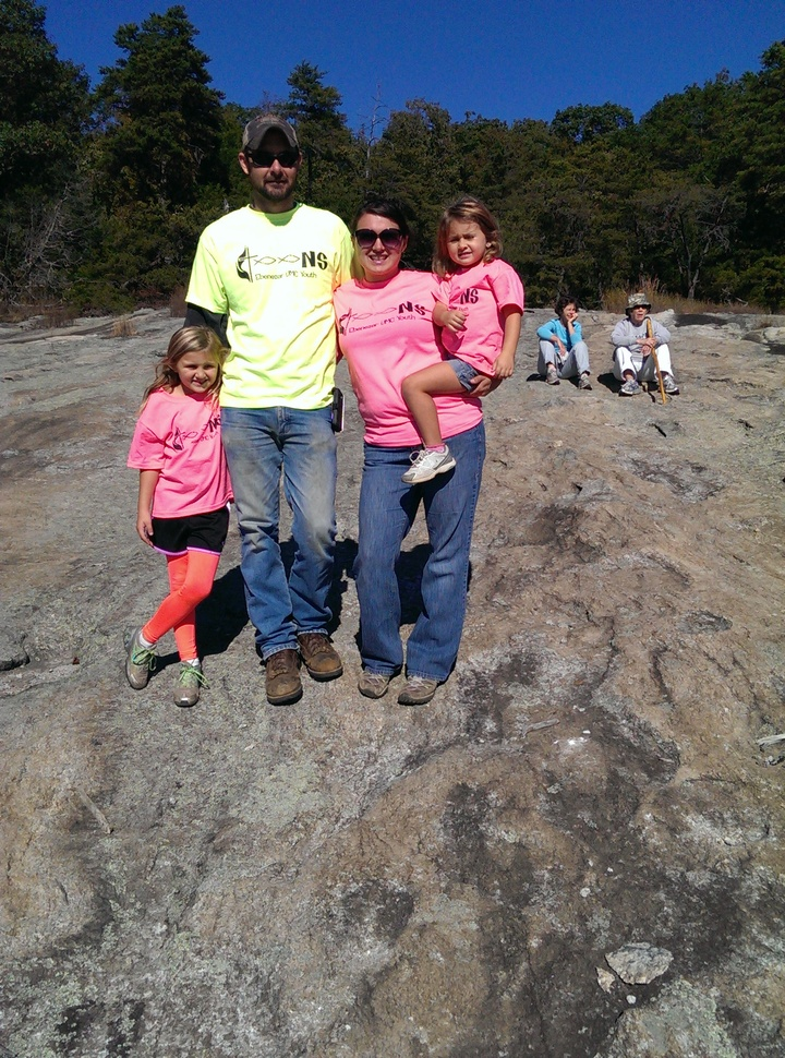 Top Of The Mountain With Custom Ink! T-Shirt Photo