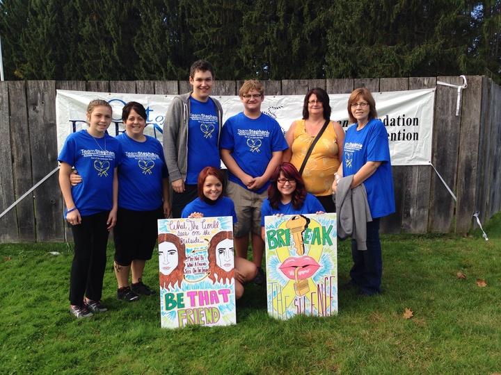 Team Stephanie Walks To Promote Suicide Awareness T-Shirt Photo