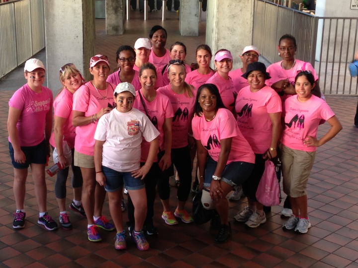 Team Cypress: Educators Walking For A Cure T-Shirt Photo