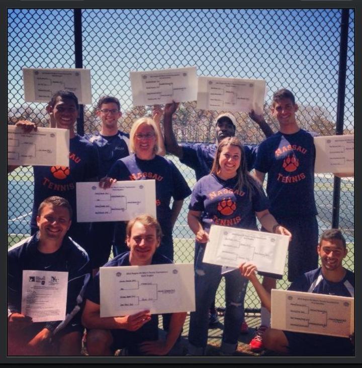 Nassau Cc Men's Tennis 2103 Region Xv Champions T-Shirt Photo