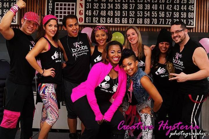 Zumba Instructors Fighting Breast Cancer T-Shirt Photo