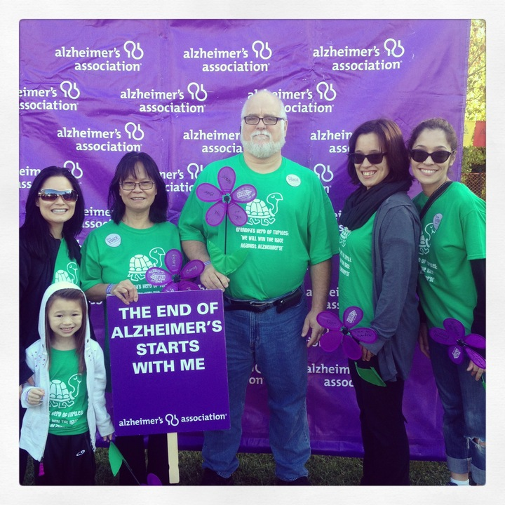 Grandpa's Herd Of Turtles At The Walk To End Alzheimer's On Oct.12, 2013 T-Shirt Photo