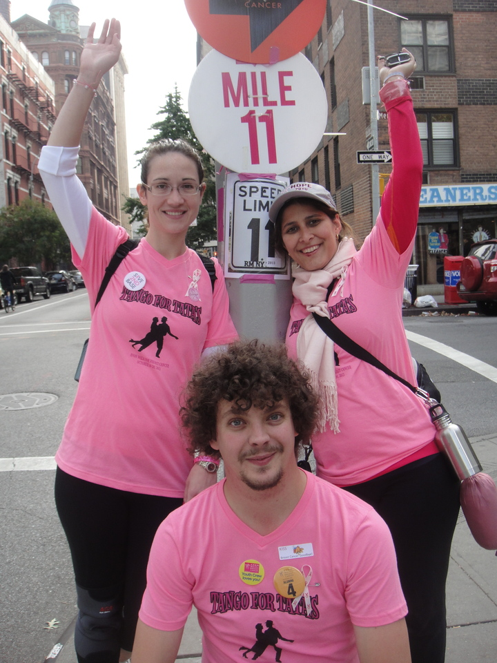 Half Of Team Tango For Ta Ta's Avon Walk For Breast Cancer T-Shirt Photo