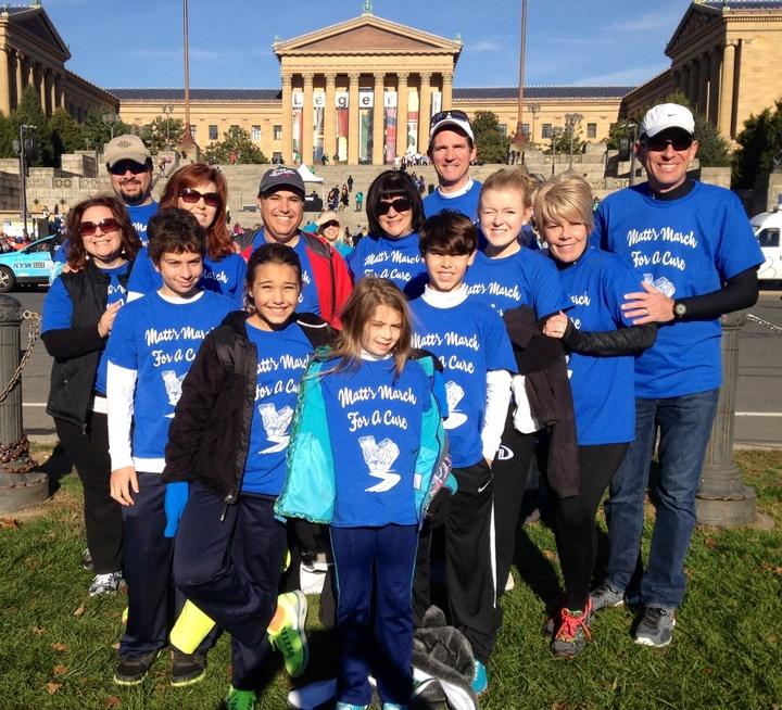 Matt's March For A Cure Team T-Shirt Photo