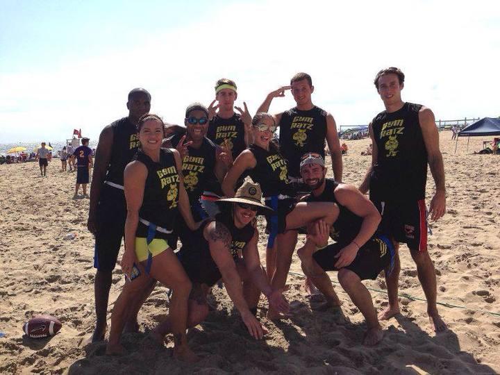 """Gym Ratz"" Sand Flag Football Team!! T-Shirt Photo"