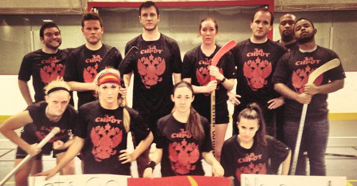 Floor Hockey   For The Orphans T-Shirt Photo
