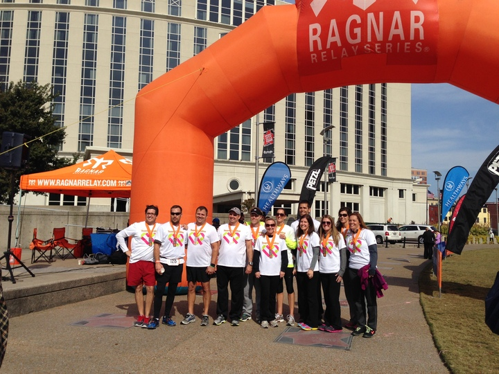 Team Caroline Conquers 200 Mile Ragnar Race T-Shirt Photo