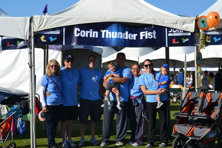 Juvenile Diabetes Research Foundation Walk 2013, Team Corin Thunderfist T-Shirt Photo