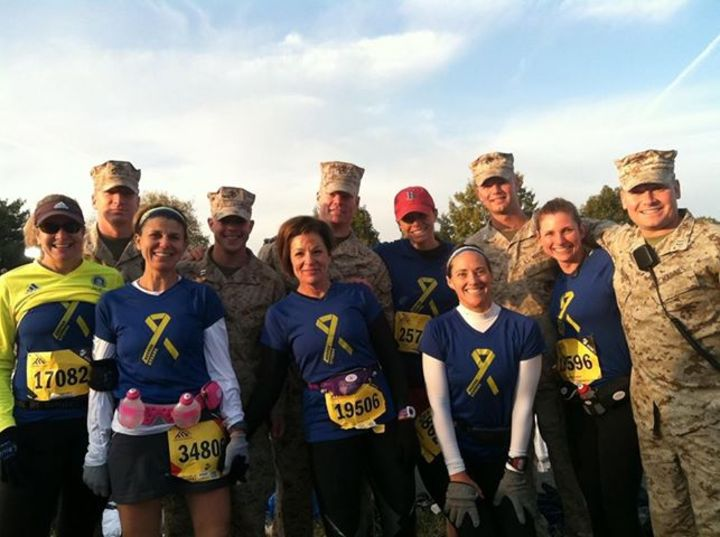 Boston Strong At The Dc Marine Corps Marathon T-Shirt Photo