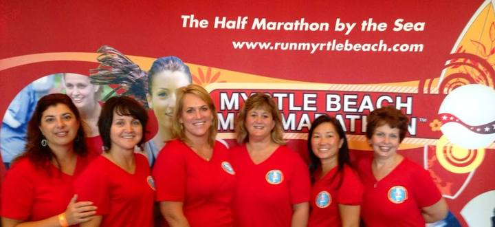 Beach Bound Running Mamas T-Shirt Photo