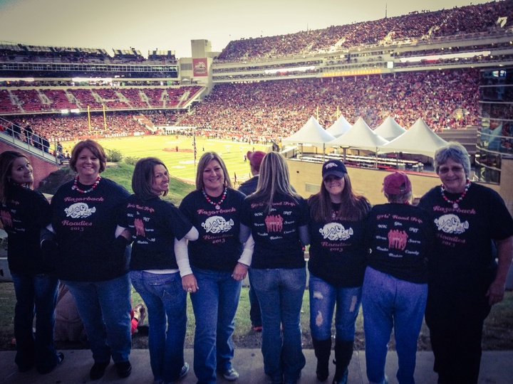 """Razorback Roadies"" Girls Road Trip 2013 T-Shirt Photo"