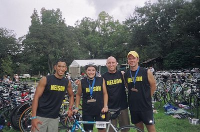 Team Nelson After The Disney Triathlon T-Shirt Photo
