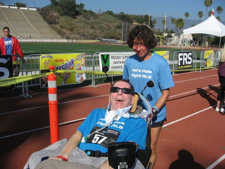 Racing For A Cure For Lou Gehrig's Disease T-Shirt Photo