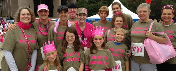 Tracy's Troopers Race For The Cure T-Shirt Photo
