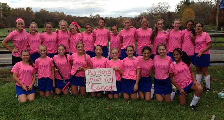 Independence Field Hockey Turns It Pink T-Shirt Photo