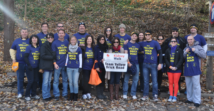 Pittsburgh Kidney Walk Team Yellow Brick Road T-Shirt Photo