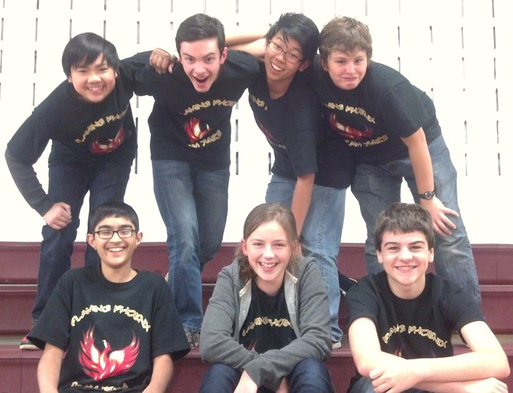 Flaming Phoenix Ftc Robotics Team T-Shirt Photo