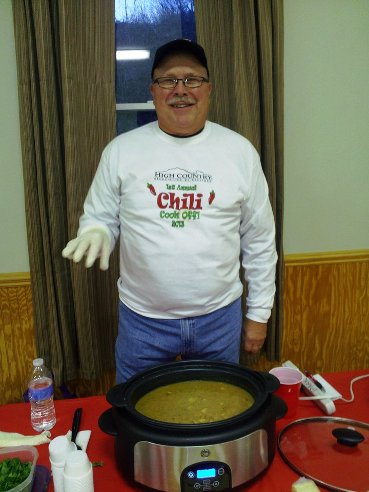 Roger Ready For Chili Judging! T-Shirt Photo