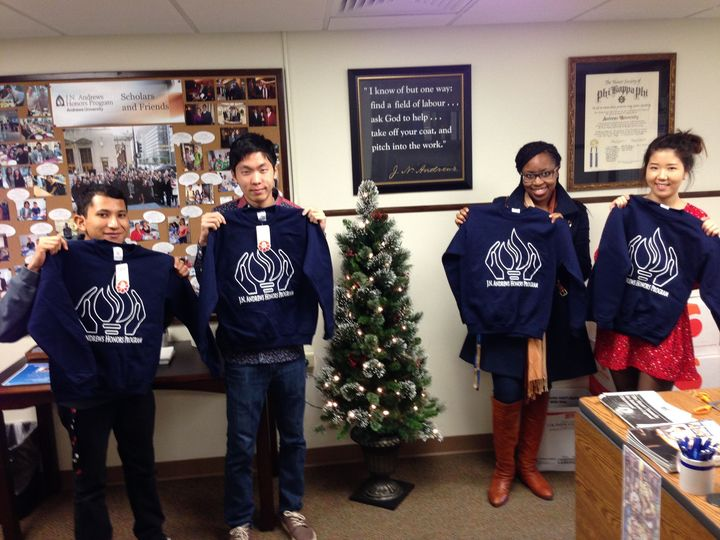 Honors Students With Honors Sweatshirts! T-Shirt Photo