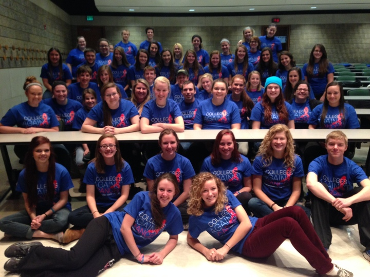Grand Valley State University Colleges Against Cancer T-Shirt Photo