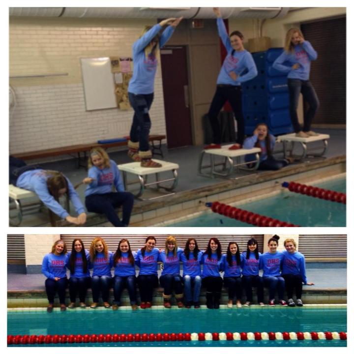 Ohs Girls' Sectional Swim Team  T-Shirt Photo