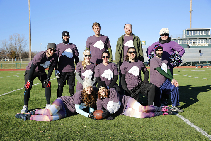 2013 Turkey Bowl   Team Purple Polar Bear! T-Shirt Photo
