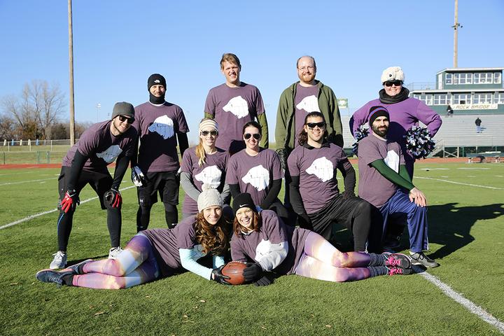 2013 Turkey Bowl   Team Purple Polar Bear! T-Shirt Photo