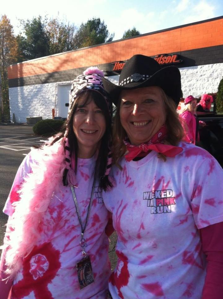 Laurie & Diane Getting Wicked In Pink T-Shirt Photo