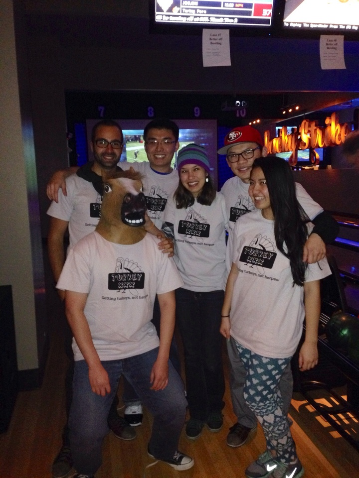 Turkey Porn Bowling Team T-Shirt Photo