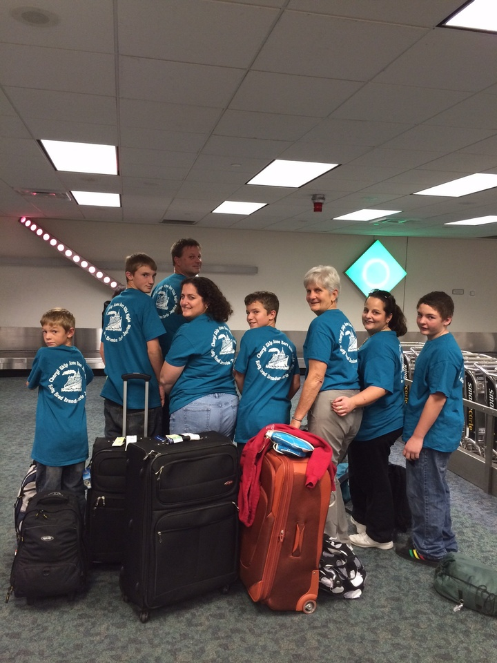 We're Ready To Show Off Our Custom Ink Tees To Everyone On Board! T-Shirt Photo