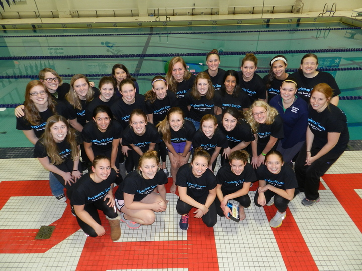 Parkway South High Girls Swim & Dive Team T-Shirt Photo