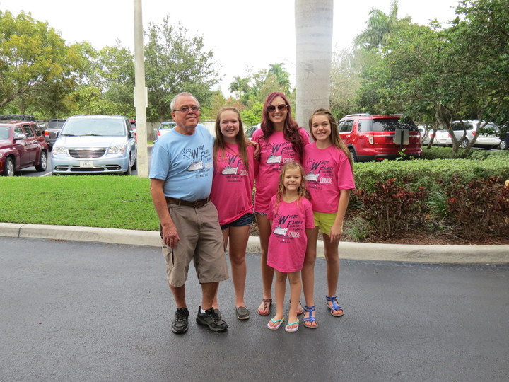 Grandpa And The Girls T-Shirt Photo