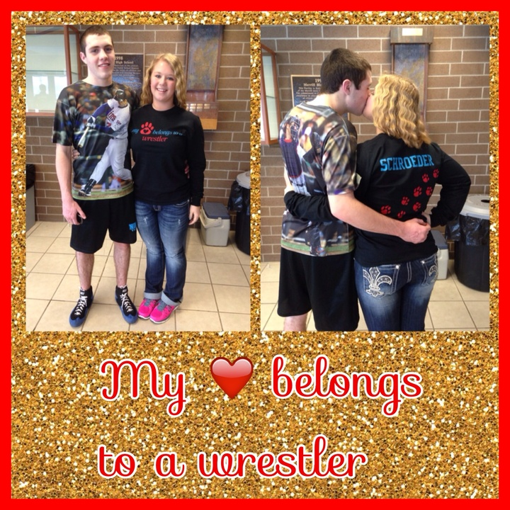 My Heart Belongs To A Wrestler T-Shirt Photo
