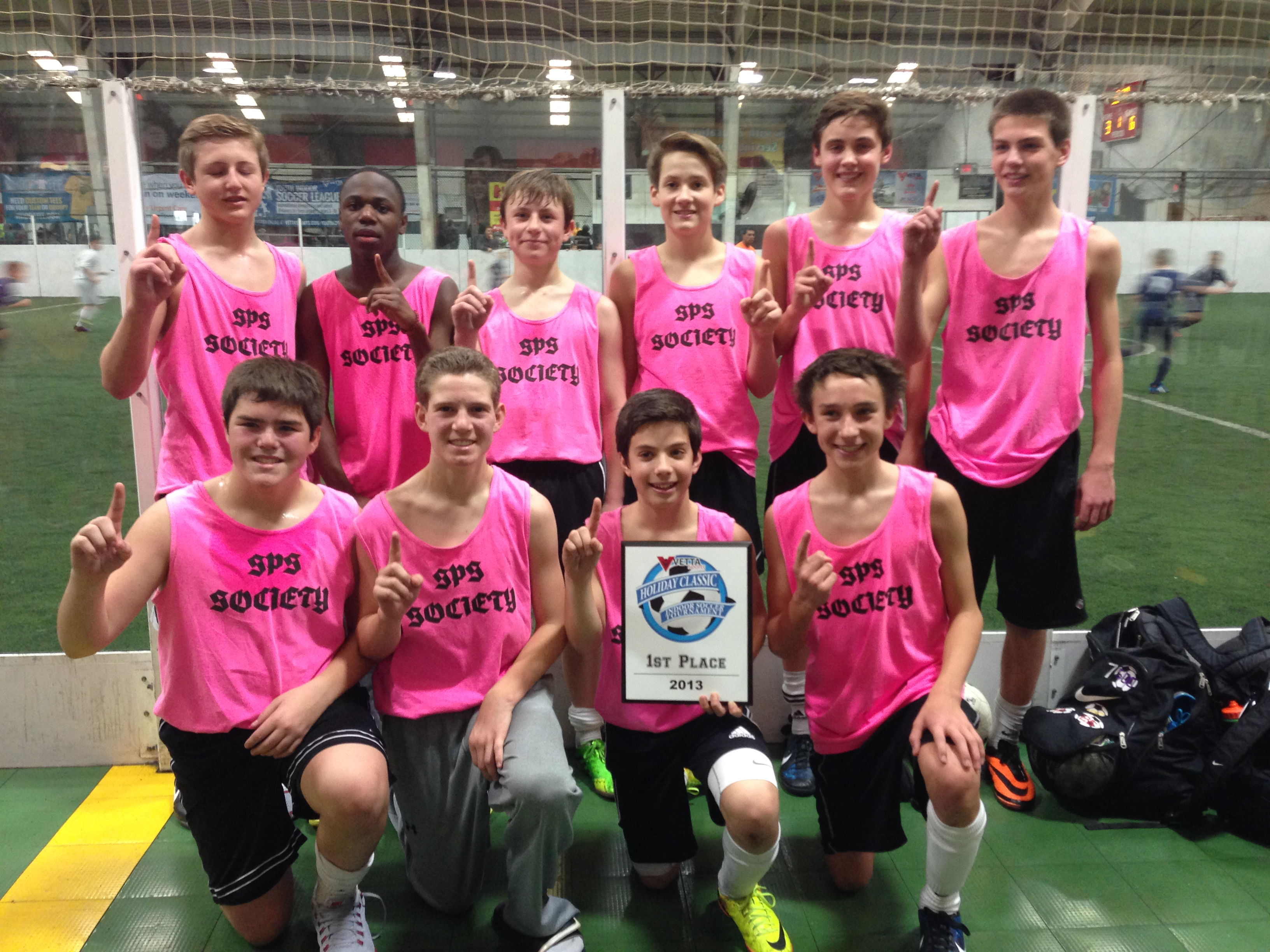 be3cba8b9 Custom T-Shirts for U14 Sps Indoor Soccer Holiday Classic Champs ...