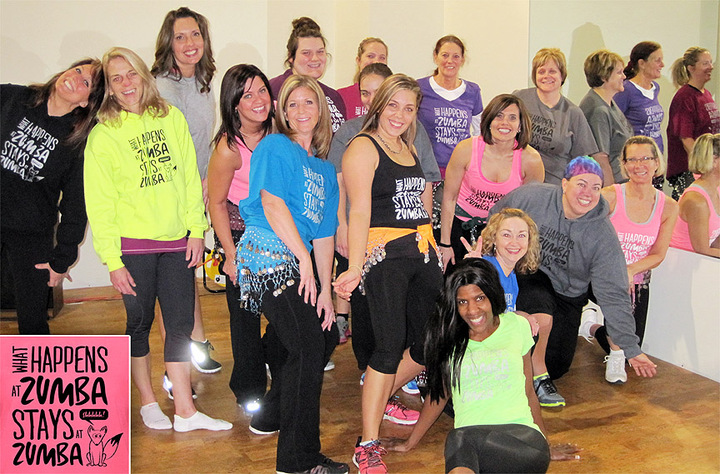 What Happens At Zumba... Stay At Zumba T-Shirt Photo