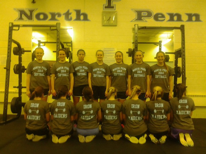North Penn Softball Team  Weight  Lifting Workout T-Shirt Photo