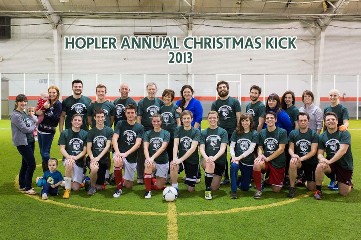 Hopler Annual Christmas Kick 2013 T-Shirt Photo
