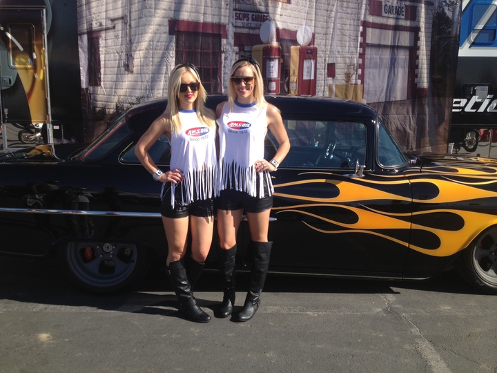 Amsoil Girls At Supercross Retro Weekend T-Shirt Photo