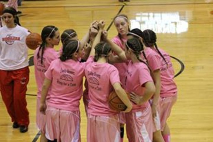 Lady Broncs Hoop For A Cure T-Shirt Photo