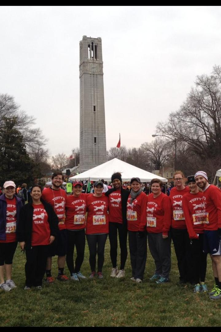 Tuffy's Team At The 10th Annual Krispy Kreme Challenge 2014 T-Shirt Photo
