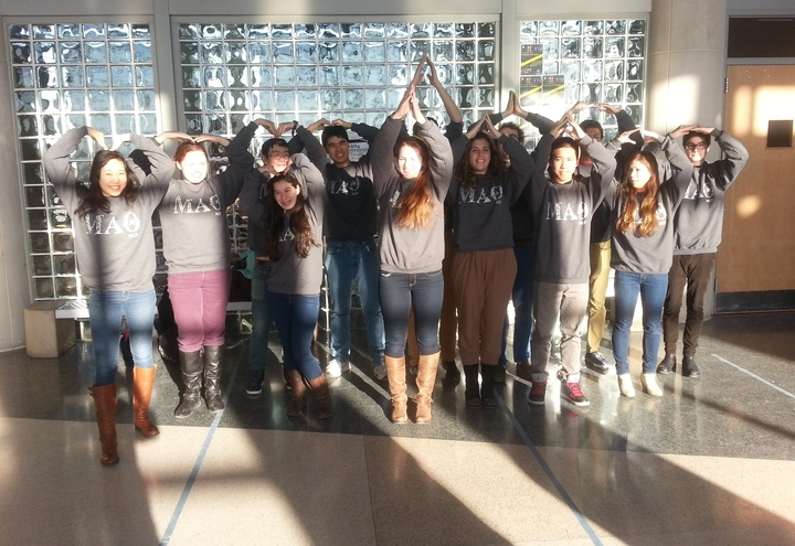 Spelling Out Mu Alpha Theta! T-Shirt Photo